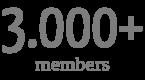 3.000+ members